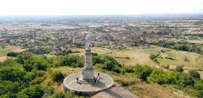 Statue de la Vierge Marie. Madone. Site de Purchon. Champdieu