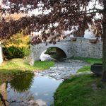 Pont sur le Ruillat. Place du Pont. Champdieu