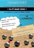 Concours de Pétanque organisé par le Comité des Fêtes de Champdieu